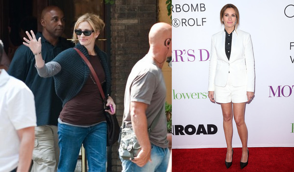 Stars, Who Gained Pounds. Julia Roberts
