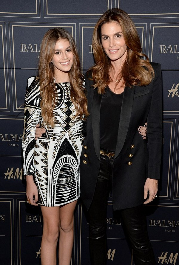 Kaia Jordan Gerber, and her mother, Cindy Crawford