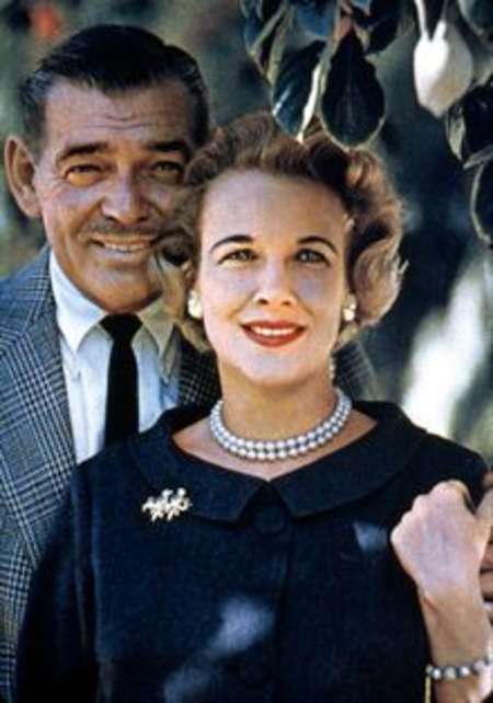 Clark Gable and his fifth wife Kay Spreckels