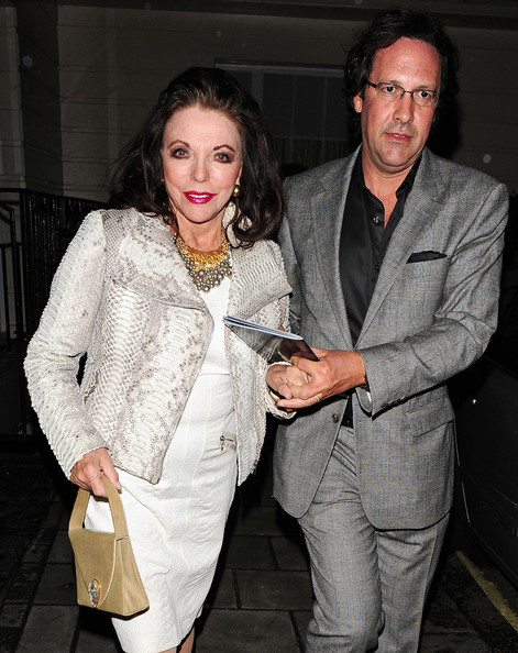 Joan Collins and her fifth husband Percy Gibson