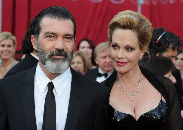Melanie Griffith and her fourth husband Antonio Banderas