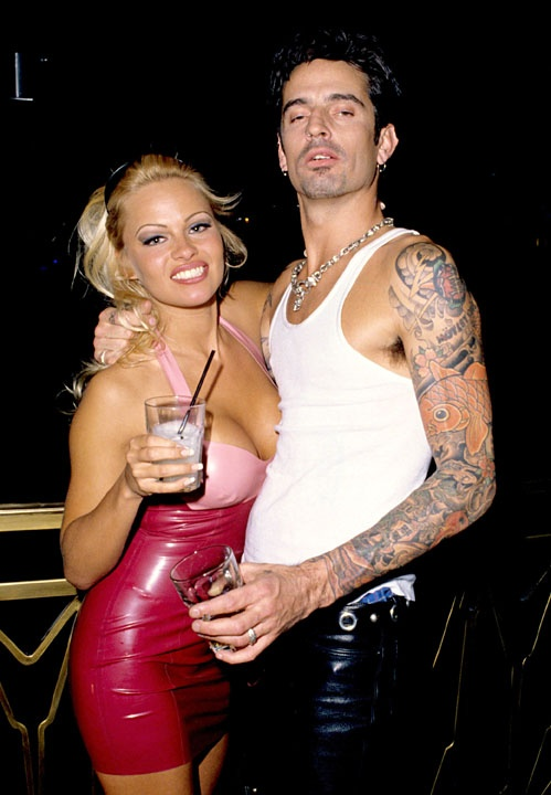Pamela Anderson and her first husband Tommy Lee