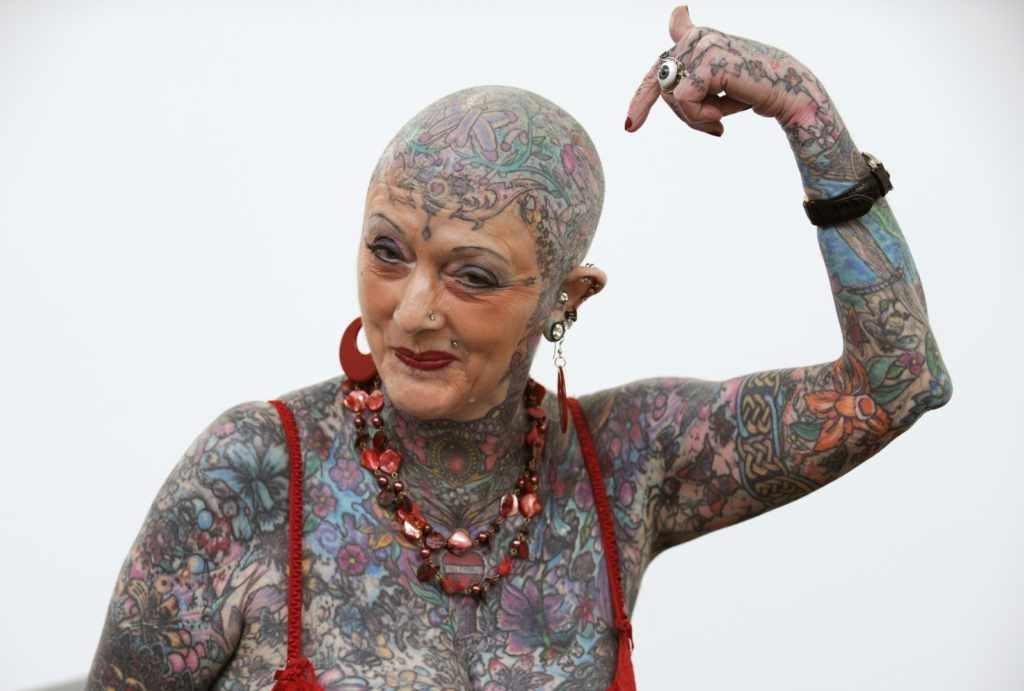 Isobel Varley - the most tattooed senior woman