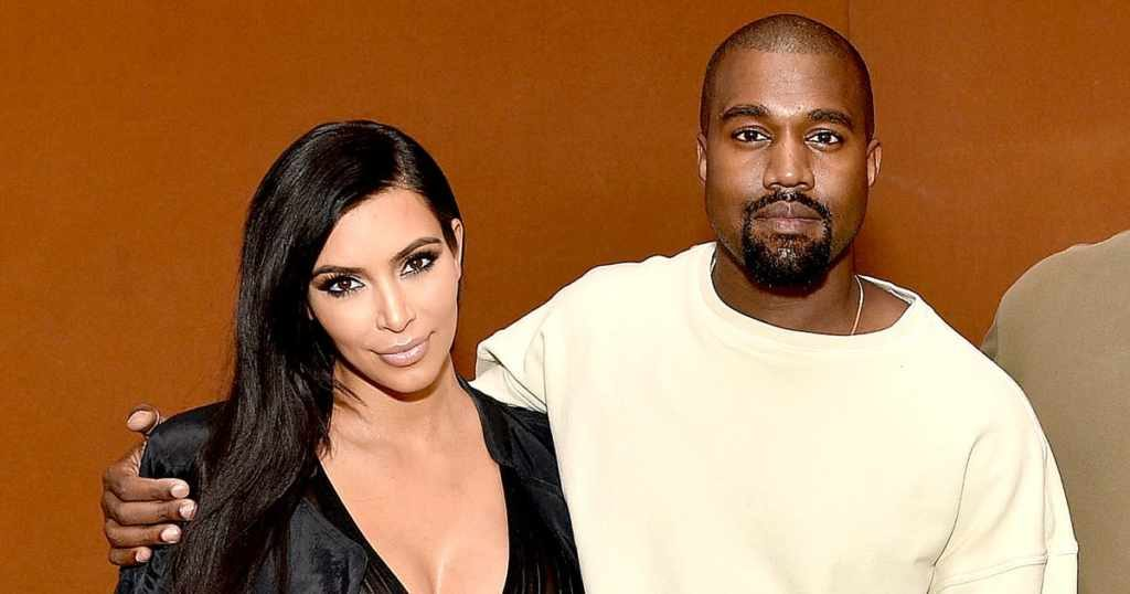 Kim Kardashian with her husband Kanye West
