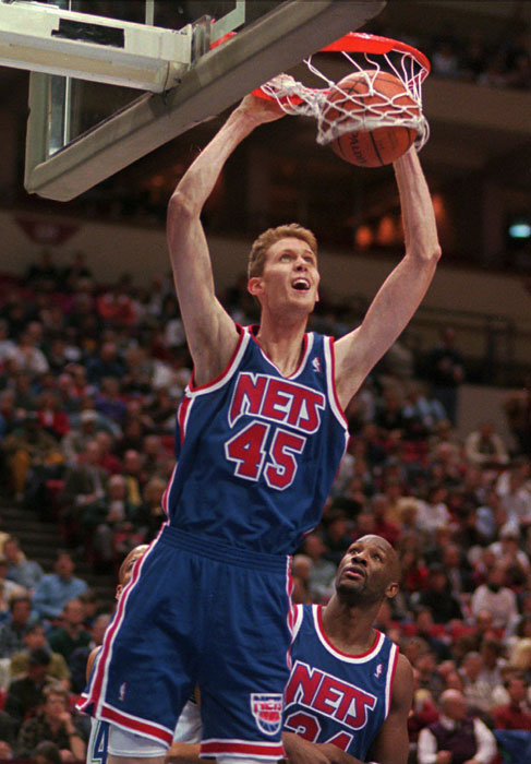 Shawn Bradley is 7ft 6.1in (2.29 m) tall