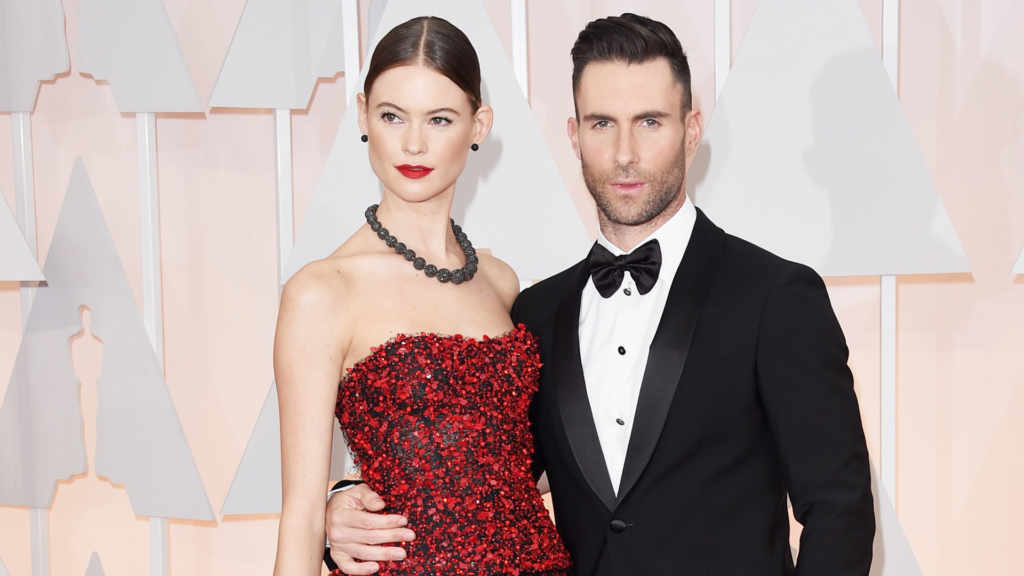 Adam and his beautiful wife Victoria's Secret model