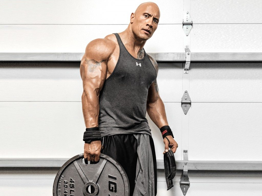 Dwayne Johnson's body measurements are 50-35-20 in /127-88.9-50.8 cm