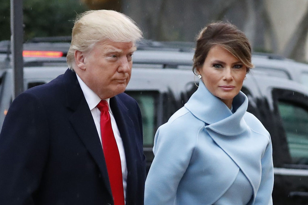 Melania Trump with Donald Trump her husband