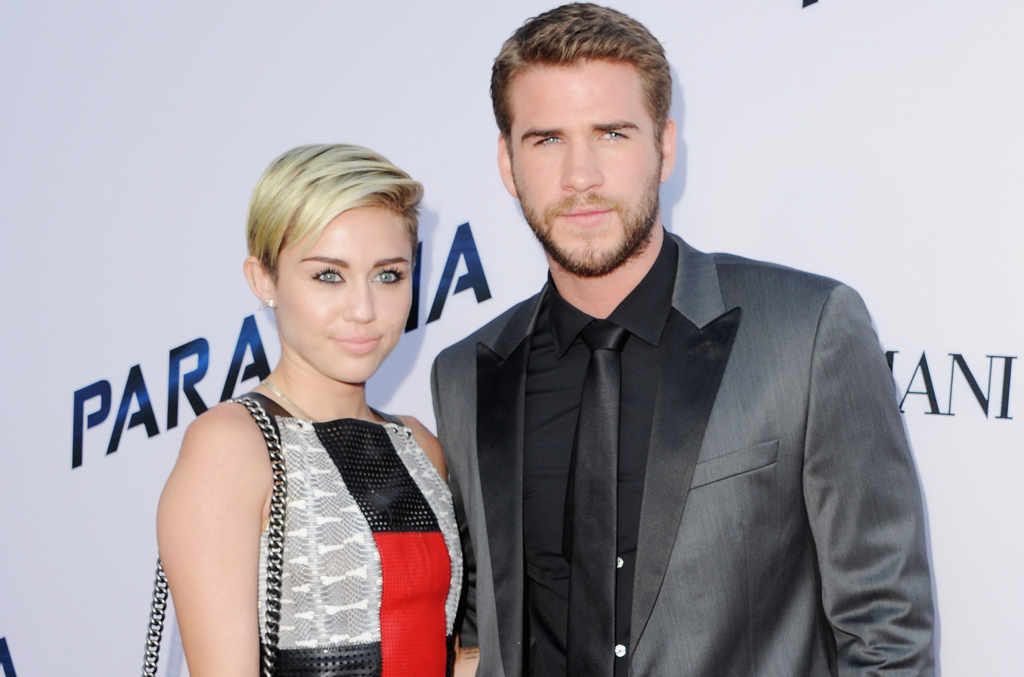 Miley and her fiancee Liam Hemsworth