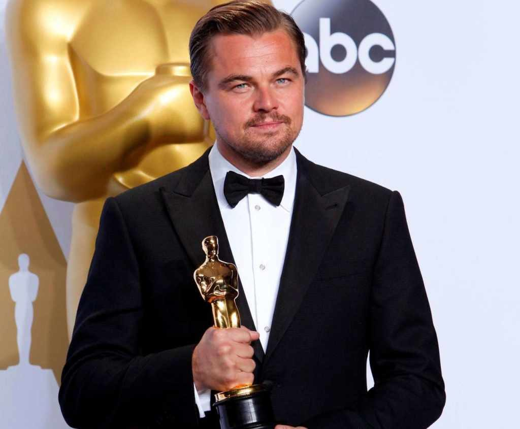 Leonardo DiCaprio's hair color is blonde