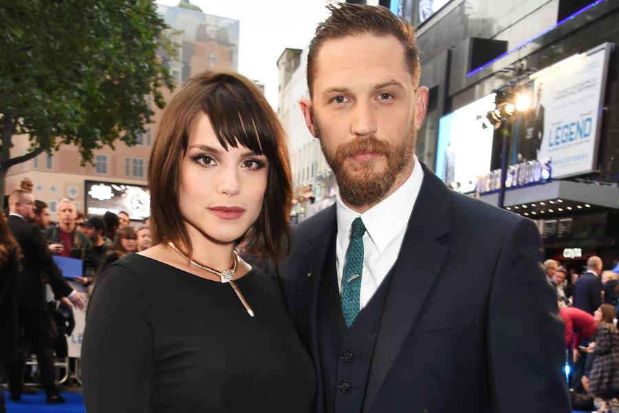 Tom Hardy with his wife Charlotte Riley