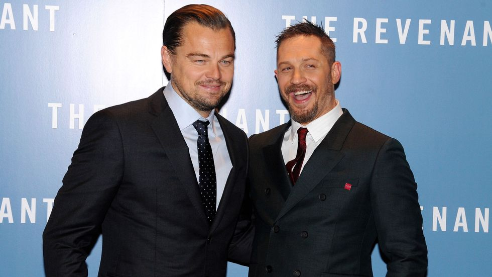 Tom Hardy with his friend Leonardo DiCaprio
