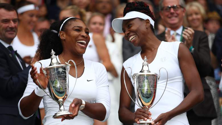 The Williams sisters Serena and Venus