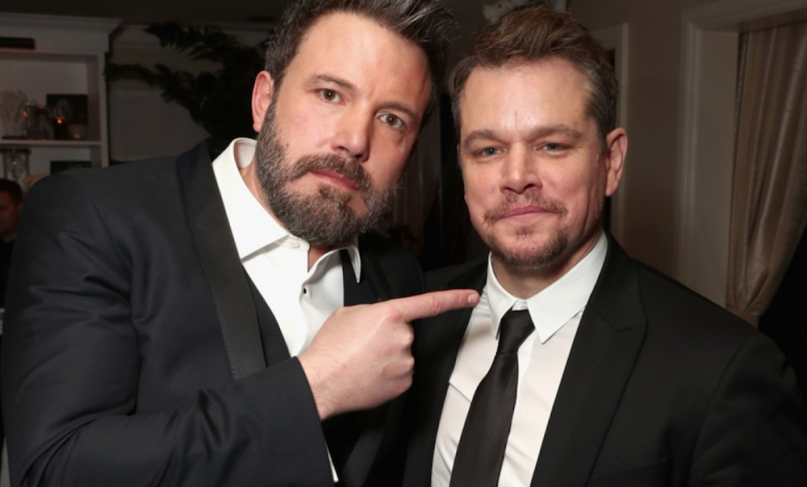 Ben Affleck with his best buddy forever Matt Damon
