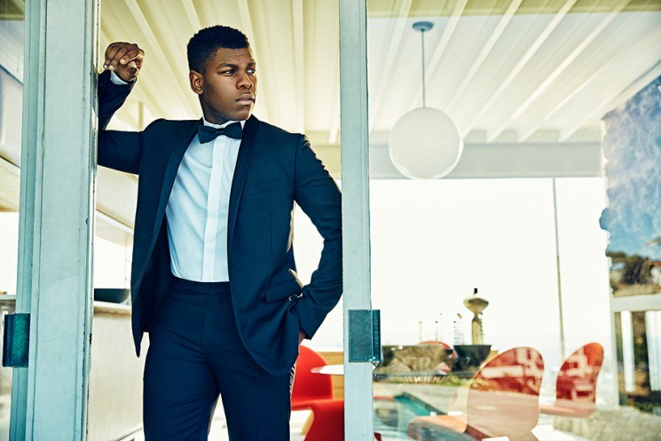 John Boyega's hair color is black