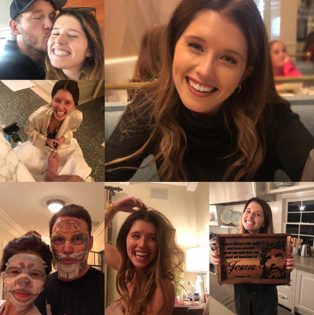 Chris Pratt with his girlfriend Katherine Schwarzenegger