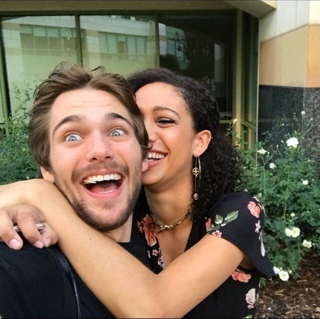 Dylan Sprayberry with his girlfriend Samantha Logan