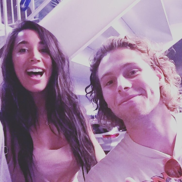 Luke Hemmings with his girlfriend Sierra Deaton