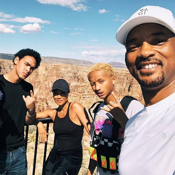 Will Smith with his family: wife Jada Pinkett Smith, and sons Jaden and Trey