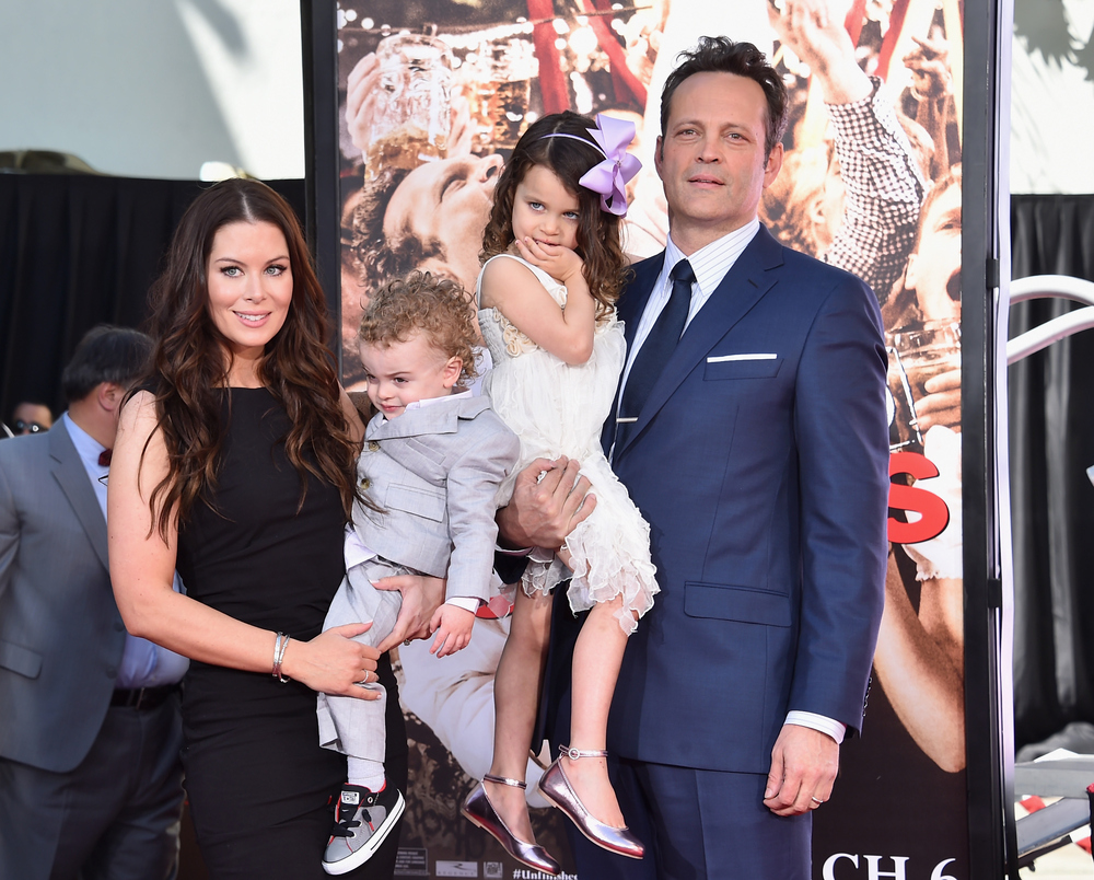Vince Vaughn with his wife Kyla Weber and their kids: daughter Lochlyn Kyla Vaughn and son Vernon Lindsay Vaughn