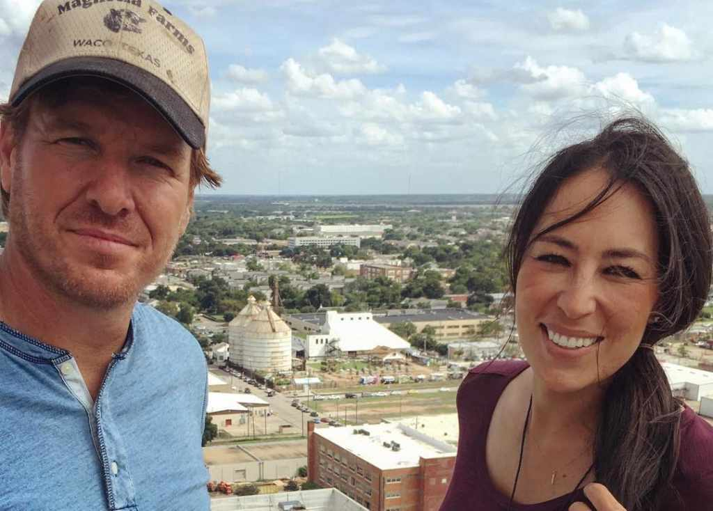 Joanna Gaines with her husband Chip Gaines